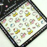 50pcs/lot Mix color cartoon 3D Nail Art Sticker  For Desgin & Decoration  nail art decoration Beautifully packaging