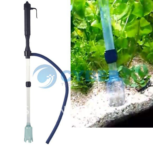 Free Shipping Siphon Aquarium Auto Fish Tank Vacuum Gravel Water Filter Cleaner Washer(China (Mainland))