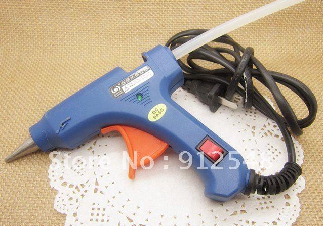 Alta qualidade 20W Hot Melt cola arma com indicador 30pcs 7mm, vara da cola