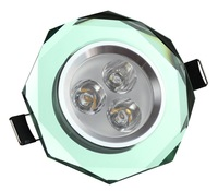 3x1W  Crystal LED Down spot light LED Ceiling lamp light green color