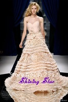 2013 Zuhair Murad Dress Couture High Fashion A-line Many Layers Lace and Flowers Gorgeous Zuhair Murad Wedding Dress Bridal Gown