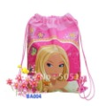 Freeshipping Barbie Toy story Design Non-woven backpacks Kids/Children Cartoon Drawstring Backpack Bag, kids schoolbag gift 20pc