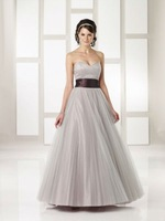 Free Shipping 2012 Hot Sale A-line Elegant Off the Shoulder Evening Prom party Organza Evening /Prom Dresses with Sashes