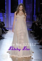 Zuhair Murad Dress Couture 2013 See Through Sexy Gorgeous Beaded Appliques Celebrity Zuhair Murad Evening Dress Prom Gown