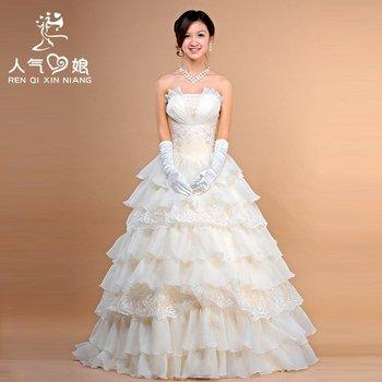 Promotion! OTTO classic wedding dress formal dress 2012 fashion sweet princess wedding dress free shipping