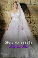 2013 Zuhair Murad Wedding Dress White A-line Sweetheart Handmade Flowers Beads Wedding Dresses Bridal Gown with Short Train