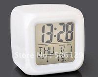 wholelsale price good quality Glowing LED Color Change Digital Alarm Mood Clock Multifunction music led Colourful clock