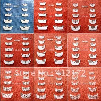 100PCS/lot 12choices Mix Designs Nail Sticker & Decal nail art Temporary Tattoos Stickers Nails & Tools