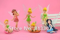 High Quality PVC (6pcs/set) Tinkerbell Fairy Adorable tinker bell Figures Retail
