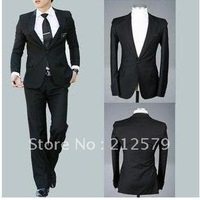 men's formal dress groom suits wedding suit Slim black temperament luxury leisure suits Set (1 suit +1 pants +1 vest + Tie),SU01