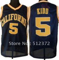 Free Shipping!!! #5  California Golden Jason Kidd 5 Navy Blue College Basketball Jersey