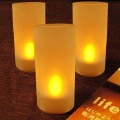 Free Shipping Voice Control (Yellow) Battery Operated LED Candle Light, 20pcs/lot