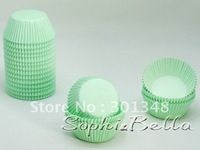 1000 pcs light green baby shower cupcake liners paper baking cups muffin cases cake decorations B170 K
