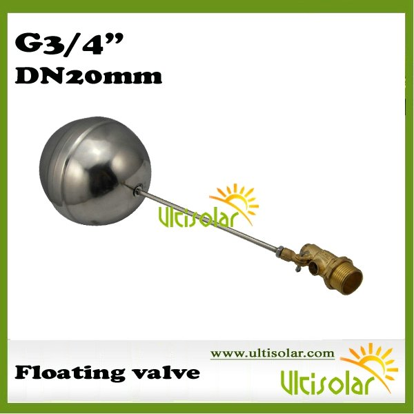 """SUS304 G3/4"""" Floating Valve for Cold and Hot Water Tank with Brass Parts and Seanmless welded Floater Ball Sample(China (Mainland))"""