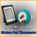 Wireless Digital LCD Swimming Pool Bath Spa Temperature Thermometer Transmitter +Receiver