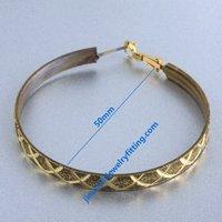 2014 new Earring fittings hoop earring  loop  findings earring components 50*5mm  wholesale price