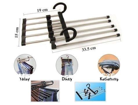 Free DHL Shipping 100pcs/lot Magic Trousers Hanger/Rack Multifunction Pants Hanger/Rack 5 in one(China (Mainland))