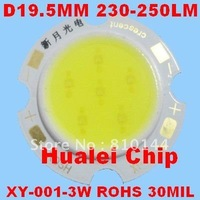 120pcs/lot 3W LED Module , COB technology, Hualei Chip 30MIL,Round D19.5mm Light source,XY-001-3W.