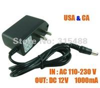 10pieces/lot CCTV Security Camera Power supply DC 12V 1000mA