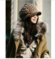 2012 Hot new hats manual knitting cap, Knitted cotton hat, autumn, spring and winter hat, free shipping MM004