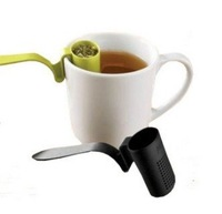 clip-on plastic mesh tea strainer infuser filter sifter leach partner assorted colors free shipping