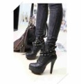 Free shipping new arrival high quality fashion platform pumps Rivet Martin boots high heels  lady shoes drop ship  store X1097