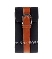 Rotating Retro PU Leather Flip Flap Cover Case For iPhone 4 4G 4S