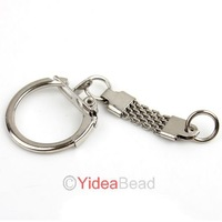 255pcs New Arrival Key Chains Key Rings Rhodium Plated Fit Key Accessories 160499