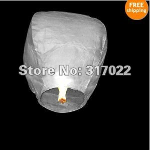 Free shipping,SKY UFO Balloon Kongming Flying Lanterns Wishing Lamp 50pcs/lot with White color only