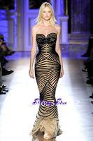 2013 Zuhair Murad Couture Elegant Sweetheart Full Black Beads Modest Designer Formal Floor Length Long Evening Dress Prom Gown