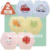 24pcs/lot 4 layers baby training pants/underwear cotton learning/study pants infant urinate pants waterproof