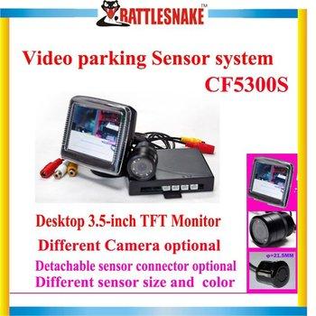 Free shipping Video parking sensor system CF5300S 3.5inch TFT monitor/CMOS camera Waterproof  Ultrasonic sensor
