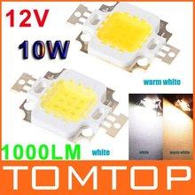 White/Warm white 10W LED Lamp Chip 900-1000LM Bright Led Chip Bulb Light Free Shipping(China (Mainland))