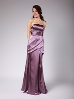 Free Shipping Gentlewomanly A Line Strapless Pleat Cross Floor Length Bridesmaid Dresses