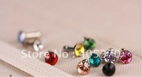 100 pcs Color Diamond 3.5mm Anti Dust Earphone Plug Stopper Cap for iPhone 4 4S for iphone 5 5g for ipad