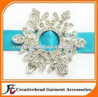 small snowflake wedding rhinestone buckles, small rhinestone buckles slider, popular design, diamante ribbon slider