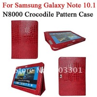 "Crocodile pattern PU leather stand case for samsung galaxy note 10.1"" N8000 , N8000 PU magnetic cover"