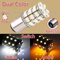 1157 Switch back 60 SMD White / Amber Turn Signal Tail Brake 60 LED Light Bulb parking car light source