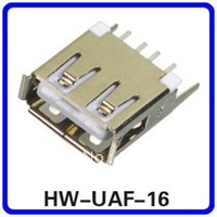 USB Female Type-A 4 Pin DIP Socket Connector 13.0 HW-UAF-16
