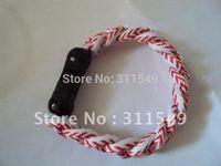 free shipping wholesales discount titanium Baseball Stitch bracelets 500pcs/lot