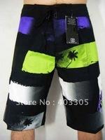 Free shipping Quality Products Mens boardshorts surf board pants Polyester Beachwear Swimwear 1 PCS/Min.order Purple/Yellow