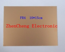 10X15cm Single Side 10*15cm thickness 1.5~1.6mm FR-4 Glass fiber Blank Copper Clad Printed Circuit Board Universal Prototype PCB(China (Mainland))
