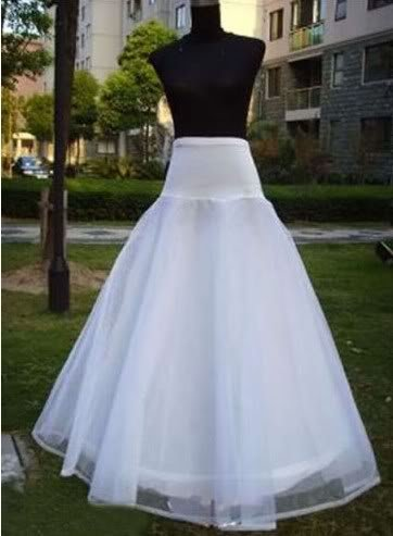 Petticoat A-line Good price and quality ! white Bridal Crinoline accessaries(China (Mainland))