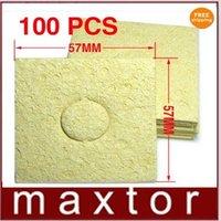 100PC Soldering Iron solder Tip Welding CLEANING SPONGE