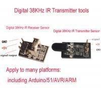 Digital 38KHz IR Transmitter and receiver Sensor kits  Arduino/51/ARM Compatible