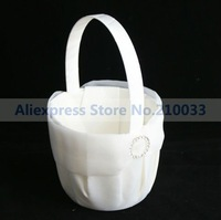 Round Rhinestone Wedding Flower Girl Boy Basket For Wedding Ceremony Free Shipping New Arrival