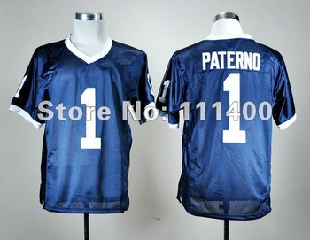 Penn State Nittany Lions #1 Joe Paterno blue coach ncaa football jerseys size 48-56 mix order free shipping embroidery logo