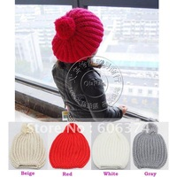 Free shipping Solid Color Baby Hat Children Hat for Winter Kids Knitted Cap Infant Beanie Linecap Baby Headwear 10pcs/lot KH0741