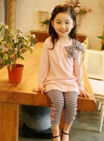 Kids Children's clothing suit pantsuit Wholesale autumn spring Hot sale fashion Wear Heigth 100~140 long sleeve trousers