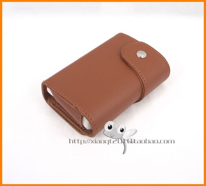 Free Shipping Brown Leather Camera Case for canon power shot ixus 210 220 130 115 105 HS(China (Mainland))